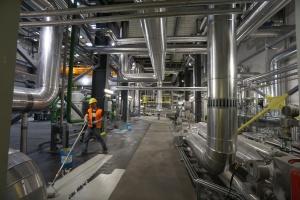 Obiekt wyposażono w kocioł fluidalny ze złożem cyrkulującym o mocy znamionowej 157 MWt. Żywotność projektowa nowego bloku to 30 lat. Fot. PTWP (Michał Oleksy)