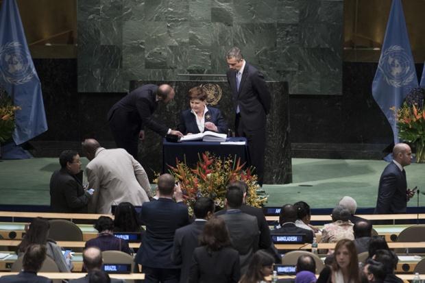 Premier podpisała porozumienie klimatyczne