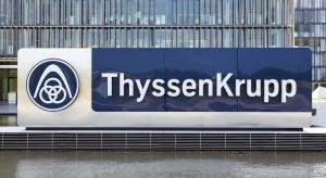 Gorąco przed siedzibą Thyssenkrupp w Duisburgu