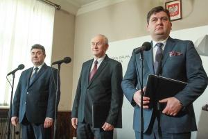 Grzegorz Tobiszowski, wiceminister energii, Krzysztof Tchórzewski, minister energii oraz Tomasz Rogala, prezes Kompanii Węglowej