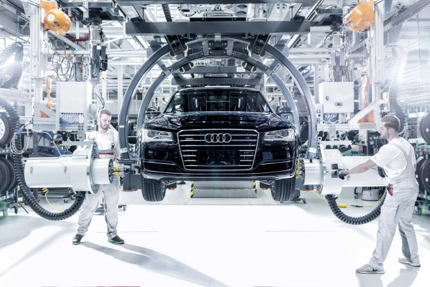 Nowe hale w zakładzie Audi Neckarsulm
