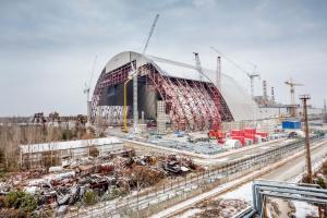 Budowa nowego sarkofagu w Czarnobylu. Zdjęcia: Mat. pras.