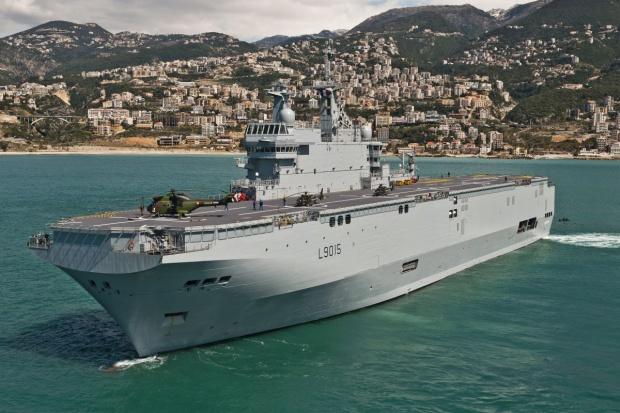 Pierwsze wyjście w morze okrętu Mistral dla Egiptu