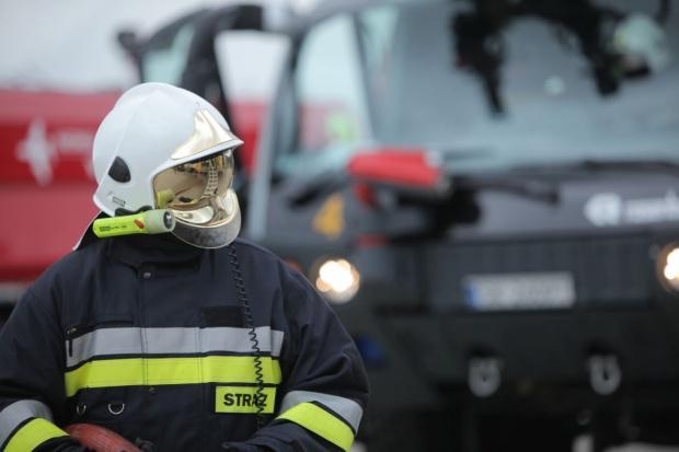 Pożar w zakładzie recyklingu odpadów w Siemianowicach Śląskich