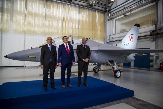 Samolot Aermacchi M-346 dla polskiej armii zaprezentowany