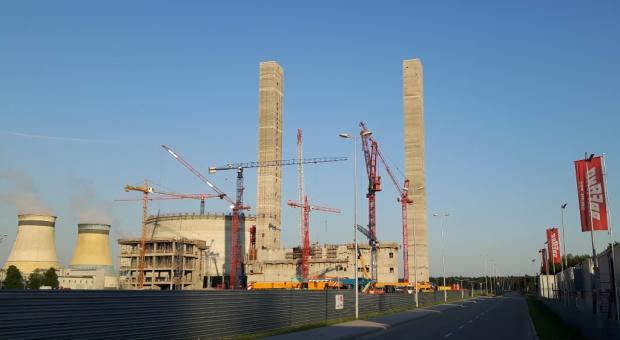 Budowa nowego bloku 910 MW w Elektrowni Jaworzno III - stan na 8 czerwca 2016 r. fot. PTWP (Tomasz Elżbieciak)