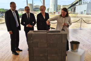 Wmurowanie kamienia węgielnego pod nową EC Zabrze Fot. PTWP (Andrzej Wawok