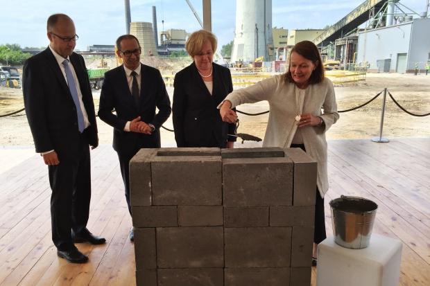 Wmurowano kamień węgielny pod nową EC Fortum w Zabrzu