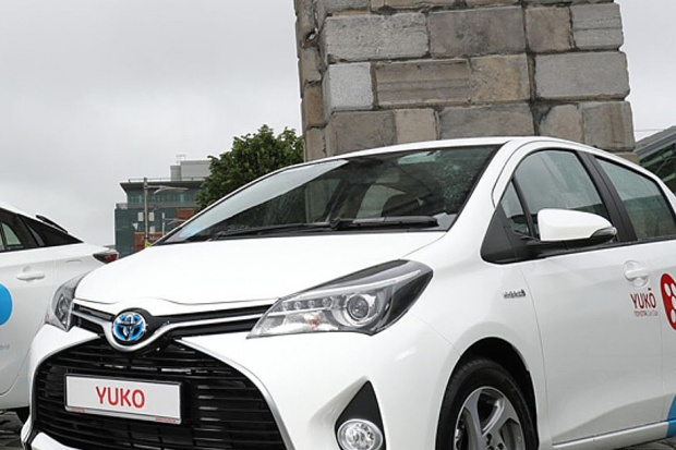 Car-sharing Toyoty w Dublinie