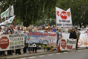 Mieszkańcy Wielkopolski nie chcą kopalni odkrywkowej. Protestowali w Warszawie
