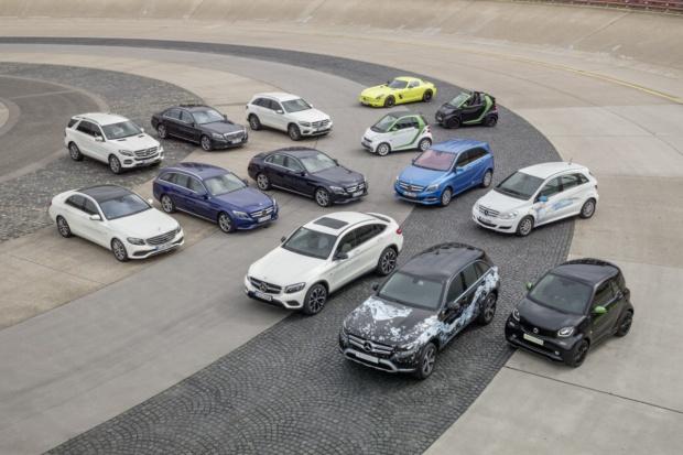 Wszystkie serie Mercedesa z napędem elektrycznym