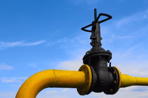 Uszkodzony gazociąg sparaliżował ruch na drodze wojewódzkiej