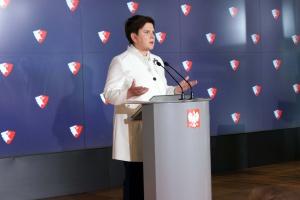 Premier Beata Szydło. Fot. Mat. pras.