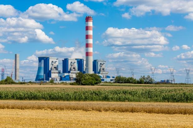 Opolskie. Demonstracja podczas półmetka budowy Elektrowni Opole