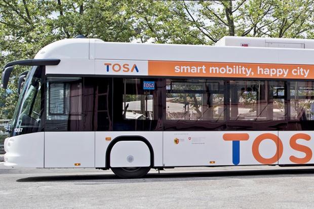 Technologia ABB pozwoli na ładowanie autobusów elektrycznych w 15 sekund