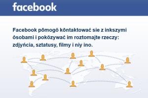 Śląski dialekt został jednym z języków na Facebooku