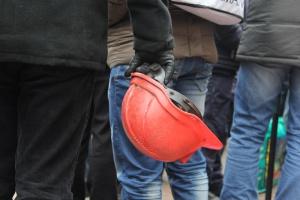 Ukraińscy górnicy na krótko zablokowali dojazd do granicy z Polską