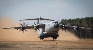 Transportowy Airbus daje radę piaskom