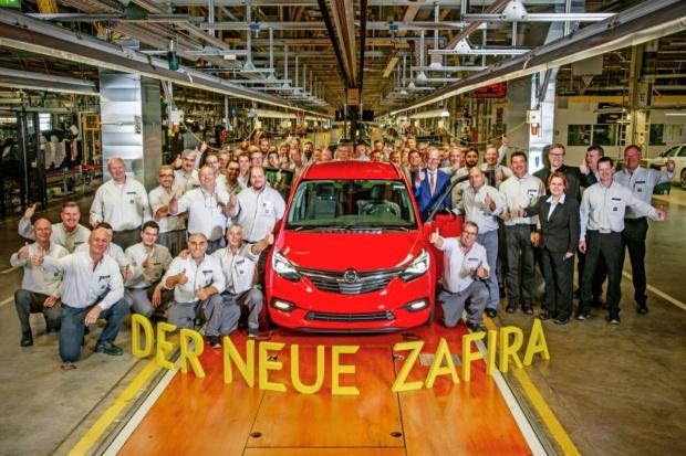 Pierwsza nowa Zafira wyjechała z Ruesselsheim