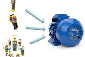 Rysunek 1. Diagnostyka maszyny w zakładch przemysłowych często wymaga wielu pomiarów wartości elektrycznych i nieelektrycznych