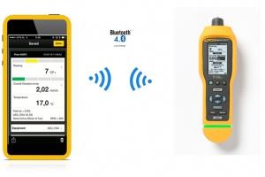 Rysunek 5. Komunikacja wibrometru Fluke 805FC z aplikacją mobilną