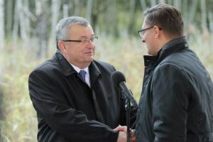 Minister Andrzej Adamczyk i prezydent Katowic Marcin Krupa. Fot. PTWP (Michał Oleksy)