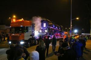 Wyjątkowy transport ciężarówkami Scania