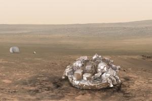 Lądownik Schiaparelli osiadł na powierzchni Marsa