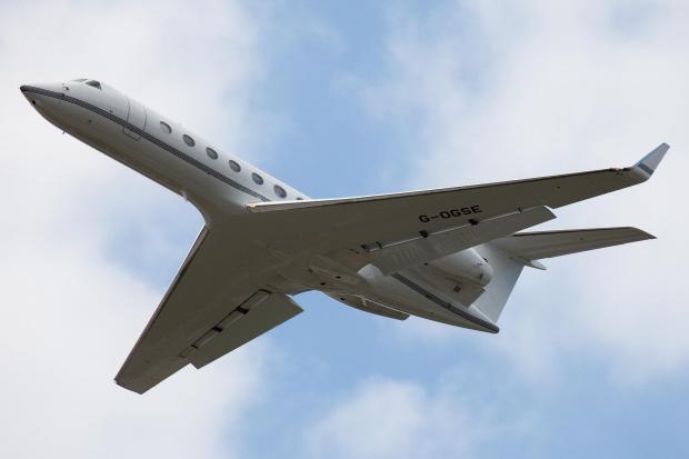 W Bydgoszczy wylądował drugi samolot dla VIP - Gulfstream G550