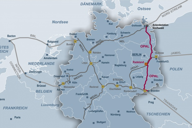Gazprom bierze OPAL