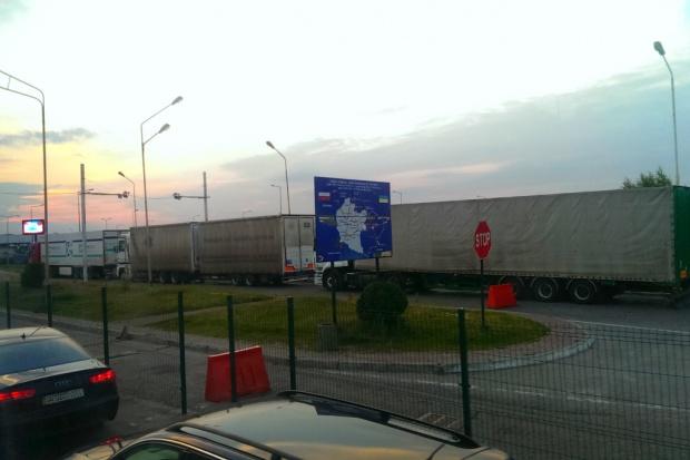 Ukraińscy górnicy zablokowali trasę do Polski