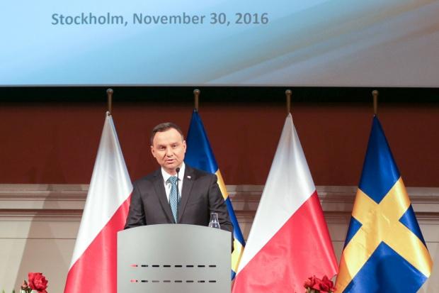 Prezydent Duda w Szwecji m.in. o Nord Stream 2 i Ukrainie