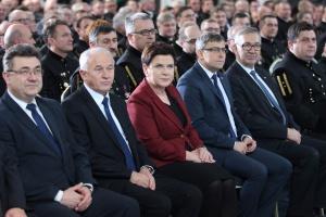 Beata Szydło i Krzysztof Tchórzewski na Barbórce w Rybniku