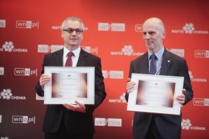 Prof. Arkadiusz Mężyk - rektor Politechniki Śląskiej, i Grzegorz Czul - prezes zarządu Fluor SA. Fot. PTWP (Paweł Pawłowski)