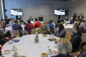 Śniadanie prasowe poświęcone planowi wydarzeń w Spodku i MCK w Katowicach.
