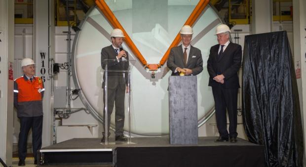 Na zdj. król Belgii Filip I Koburg podczas uroczystości otwarcia linii ArcelorMittal. Fot. mat. pras.
