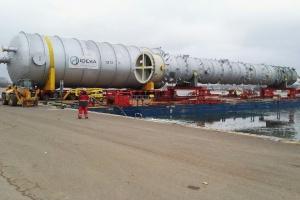 Reaktory koksowania oraz kolumna destylacyjna dla projektu EFRA