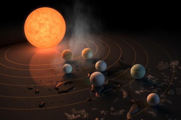 Odkryto system siedmiu planet podobnych do Ziemi