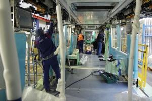 Produkcja pociągów dla metra w Rijadzie. Fot. Michał Oleksy