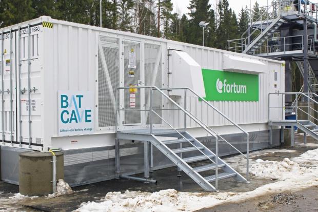 Fortum zainstalowało magazyn energii w elektrociepłowni