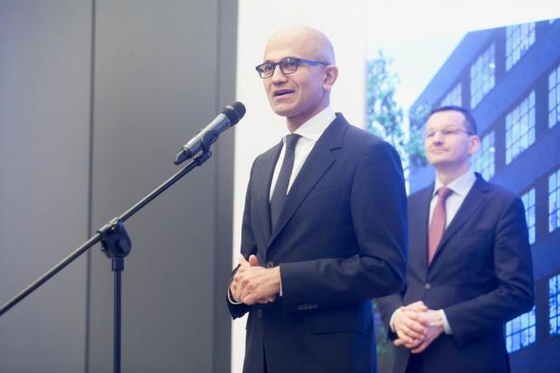 Satya Nadella, dyrektor zarządzający Microsoftu Fot. PTWP (Paweł Pawłowski)