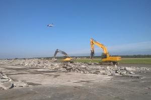 Recykling betonu na budowie drogi kołowania w Katowice Airport
