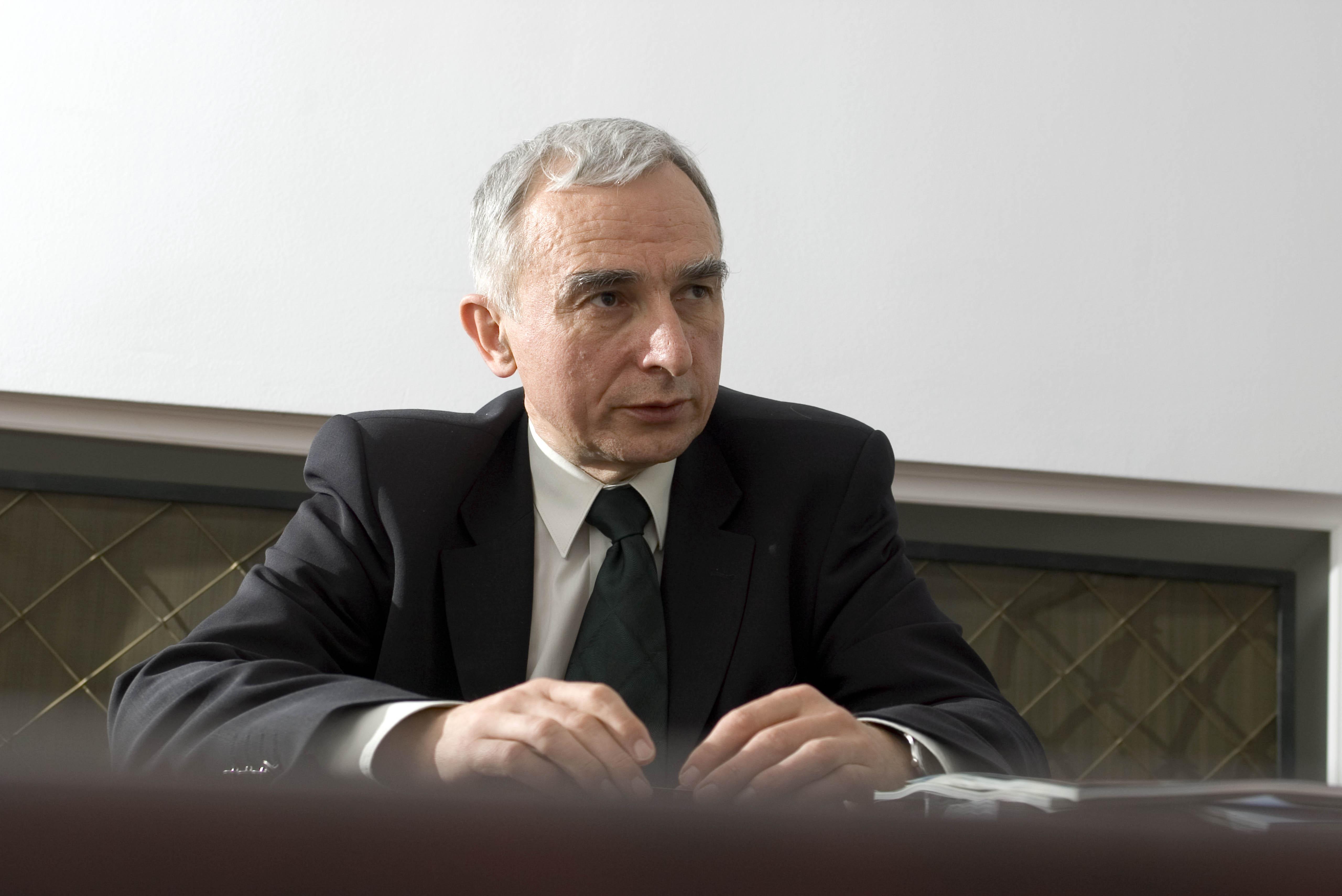 Pełnomocnik rządu ds. strategicznej infrastruktury energetycznej wiceminister Piotr Naimski.