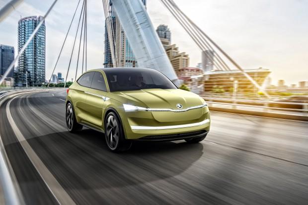 Elektryczna Škoda z Szanghaju