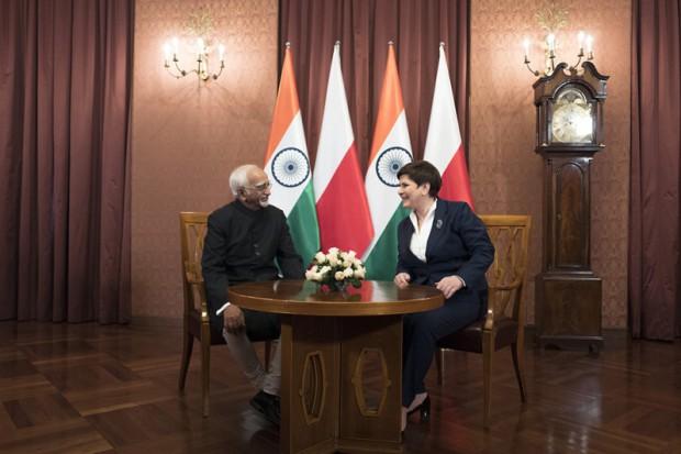 Szydło: liczymy na nowe obszary współpracy z Indiami