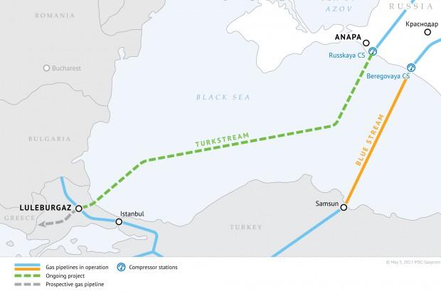 Rosja chce gwarancji UE ws. gazociągu Turecki Potok