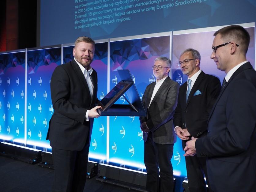 Wyróżnienie dla Work Service za odwagę ekspansji na regionalnym rynku pracy odebrał prezes zarządu Maciej Witucki.
