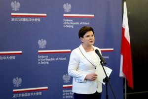 Szydło: liczę na projekty współpracy korzystne dla Polski i Chin