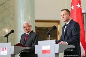 Prezydenci Polski i Singapuru otwarci na zacieśnianie relacji gospodarczych