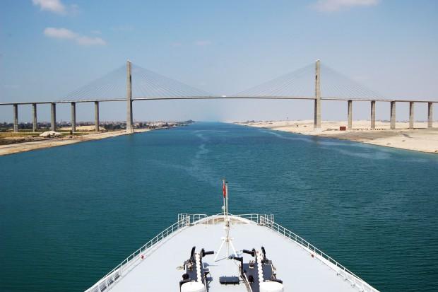 Katarski statek z LNG dla Polski przepłynął przez Kanał Sueski